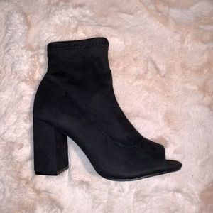 MIA Shoes - Mia Ankle Booties with Open Toe Size 7M